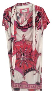 Emilio Pucci short dress Pink White and Black on Tradesy