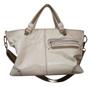 Nine West Tan Silver Handbag Shoulder Bag