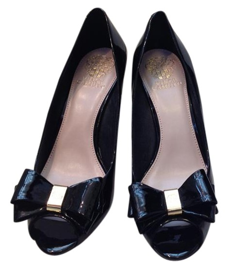Vince Camuto Black Patent Leather Pumps Size Us 9 Regular