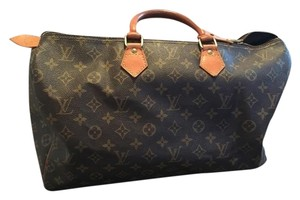 Louis Vuitton Leather Speedy Classic Satchel in Brown