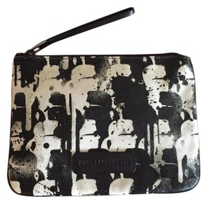 Karl Lagerfeld Wristlet in Black & White