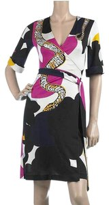 Diane von Furstenberg Dvf Wrap Silk Eve Snake Dress