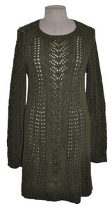 J. Jill Lacy Knit Crochet Tunic Open Knit Sweater