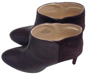 Nine West Dark Brown/ Combo Leather and Suede (Back) Boots