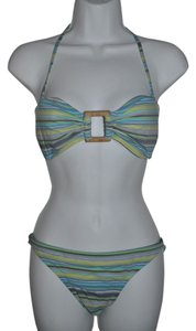 J.Crew J.CREW Striped Halter Two-Piece Bikini