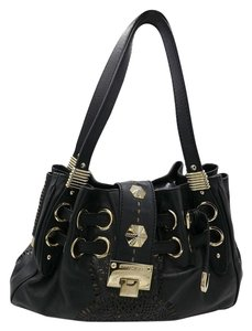 Jimmy Choo Laser Cut Front Shoulder Bag