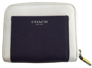 Coach Wristlet in Navy Blue & White