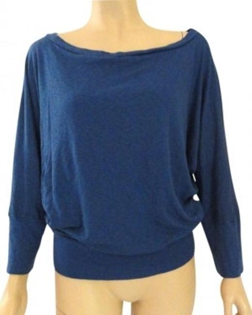 Preload https://item3.tradesy.com/images/michael-stars-blue-fits-most-modal-dolman-sleeve-stretch-blouse-size-os-one-size-176907-0-0.jpg?width=400&height=650