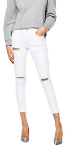 Ankle Grazer Distressed Skinny Jeans-Distressed
