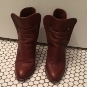faryl Brown Leather Boots