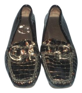 Stuart Weitzman Black/brown Flats