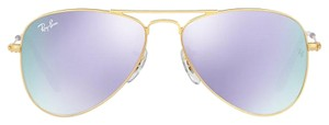 Ray-Ban NEW! Kids Aviator Sunglasses, Matte Gold/Lilac Flash, 50mm