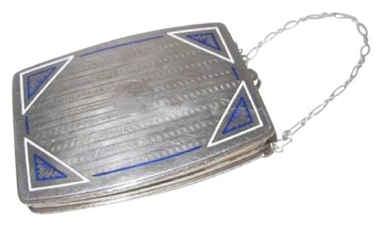 Preload https://img-static.tradesy.com/item/17691967/vintage-pursesdesigner-purses-sterling-with-white-and-blue-enamel-and-sapphire-clasp-silver-clutch-0-1-540-540.jpg