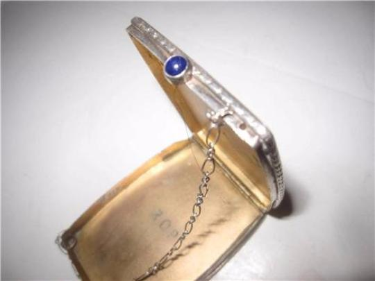 David Andersen/Willy Winnaess Mint Vintage Made Of Made In Norway Modernist Designers Rare Collectible Sterling with white & blue enamel and sapphire clasp Clutch Image 2
