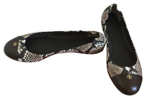 Tory Burch BLACK/ WHITE/ COCONUT Flats