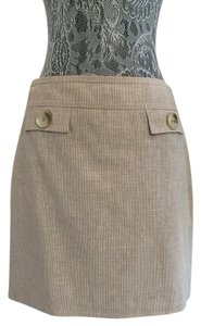 MICHAEL Michael Kors Linen Mini Mini Skirt Natural