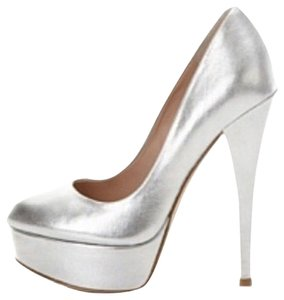 Alejandro Ingelmo Prom Bridal Formal Silver Pumps