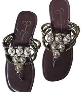 Jessica Simpson Bronze Silver Brown, Bronze, Silver, Gold Sandals