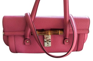 Gucci Bamboo Trim Satchel in Hot Pink