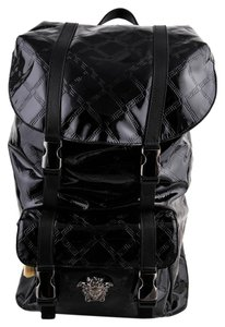 Versace Gianni Patent Leather Backpack