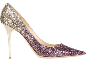 Jimmy Choo Abel Glitter Pink/Gold Pumps