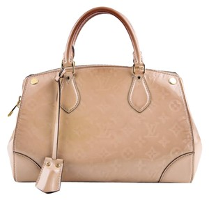 Louis Vuitton Leather Montana Beige Satchel