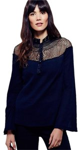 Free People Top Navy Blue