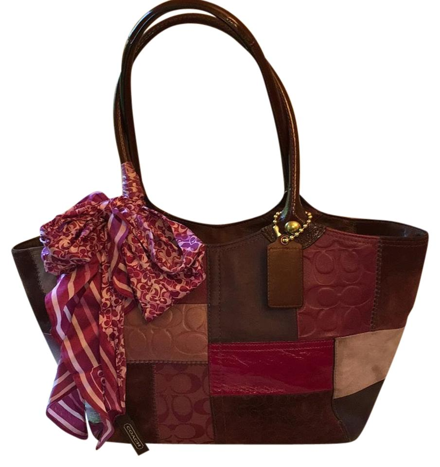 Coach Suede & Leather Purple Tote Bag on Sale, 67% Off ...