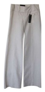 Banana Republic Pinstripe Linen Cotton Wide Leg Pants White & Beige