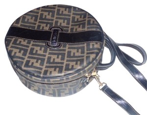 Fendi Mint Vintage Two-way Style Train Case/hat Box Removable Strap Cross Body Bag