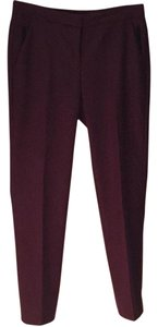 Lord & Taylor Capri/Cropped Pants Burgundy