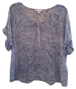 Banana Republic Top Grey White & Black