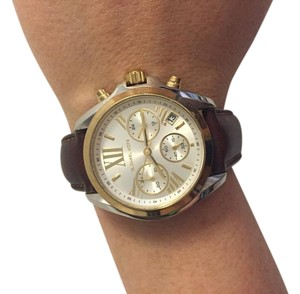 Michael Kors Two-tone Stainless Steel Watch with Leather Band