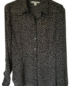 Banana Republic Top Brown-Black Animal Print