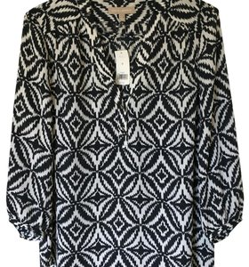 Banana Republic Top Black-White Pattern