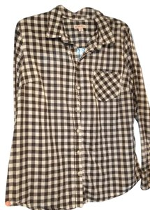 Merona Button Down Shirt Black and white