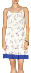 Pink Owl short dress blue and white Bicycles Summer Prints on Tradesy