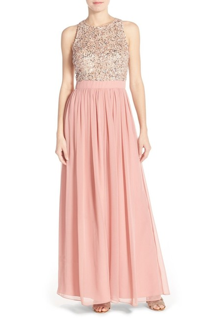 Aidan Mattox Racer-back Gown Embellished Sequin Dress Image 2