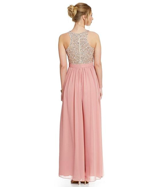 Aidan Mattox Racer-back Gown Embellished Sequin Dress Image 4