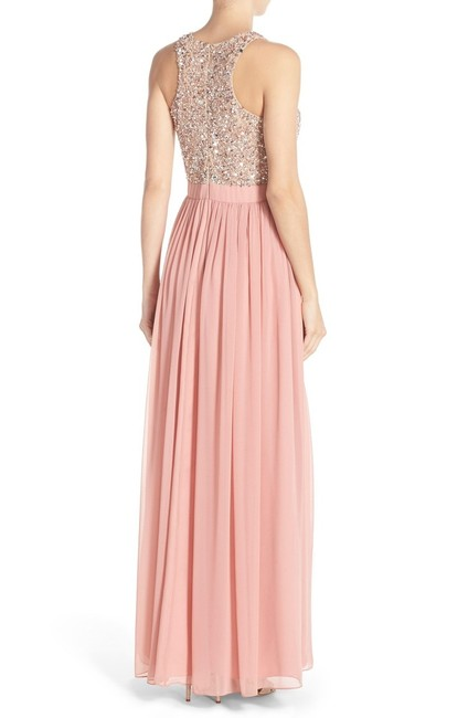 Aidan Mattox Racer-back Gown Embellished Sequin Dress Image 3