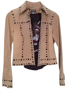 Rem Garson tan Leather Jacket