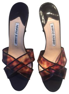 Manolo Blahnik tortoise shell Sandals