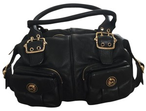 MICHAEL Michael Kors Leather Pockets Satchel in Black