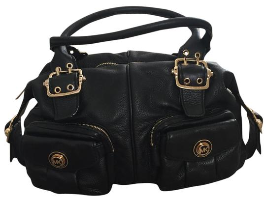 MICHAEL Michael Kors Leather Pockets Satchel in Black Image 0
