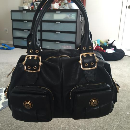 MICHAEL Michael Kors Leather Pockets Satchel in Black Image 1