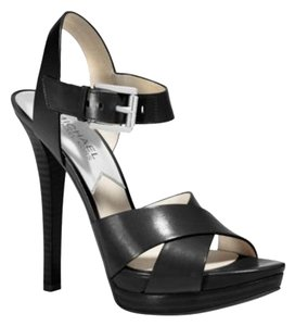 Michael Kors Leather Black Sandals