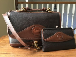 Dooney & Bourke Leather Front Flap Carrier Cross Body Bag
