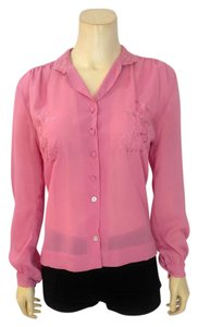 Diane von Furstenberg Button Down Top pink
