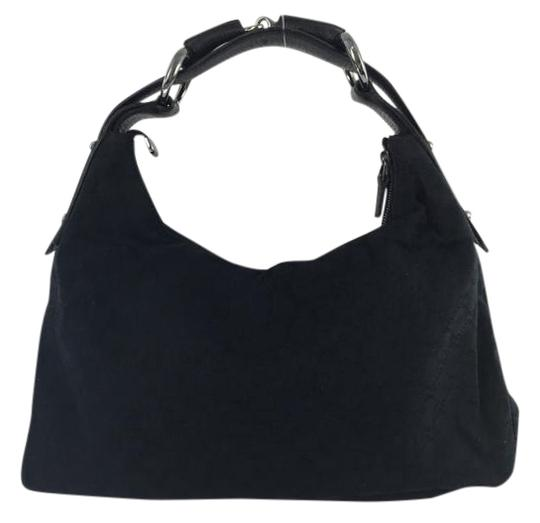 Preload https://item4.tradesy.com/images/gucci-monogram-black-canvas-and-leather-hobo-bag-1769518-0-2.jpg?width=440&height=440
