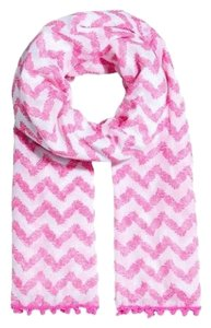 Lilly Pulitzer for Target Pink Pineapple Punch Belladonna Pom Pom Scarf